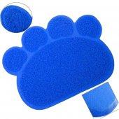 Ans Kedi Tuvalet Önü Paspası Pati Şekilli Mavi 38 57 Cm