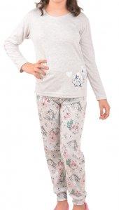 Kız Çocuk Pijama Takımı Uzun Kollu Interlok