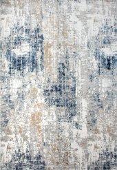 Mavi Beyaz Vizon Modern İnce Oturma Odası Halısı Hs97033