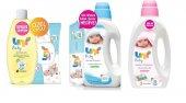 Uni Baby Saç Vücut Şampuanı Çamaşır Deterjanı Yumuşatıcı Mendil