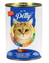Petty Ciğer Tavşanlı Kedi Konservesi 12 Adet X 415 Gr