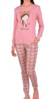 Kadın Pijama Tkm Uz Kol