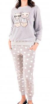 Kadın Pijama Takimi Welsoft Cepli Fermuarlı