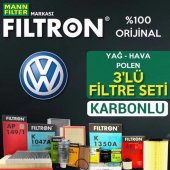 Vw Bora 1.6 Filtron Karbonlu Filtre Bakım Seti (19...