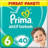 Prima Bebek Bezi Aktif Bebek 6 Beden 40 Adet Ekstr...