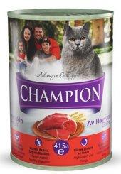 Champion Av Hayvanlı Kedi Konservesi 24 Adet X 415 Gr