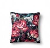 The Mia Floral Yastık C Kırmızı Beyaz Çiçekli 50