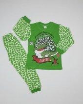Erkek Bebek Timsah Modelli Pijama Takımı 4 6 Yaş Yeşil C66748 10
