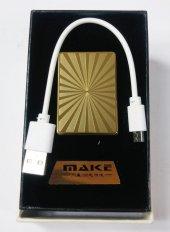 Güneş Desenli Make Smoking Set Zippo Gazsız Usb Kablolu Çakmak
