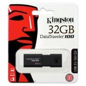 Kingston 32gb Usb3.0 Memory Dt100g3 32gb Siyah