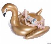 Gold Renk Flamingo Kuğu Deniz Havuz Yatağı 190x175...