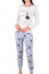 Kadın Pijama Takımı Uzun Kollu