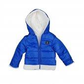 Erkek Bebek Kışlık Kapşonlu Mont 2 4 Yaş Mavi C74089 1