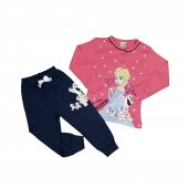Kız Çocuk Pijama Takımı 4 7 Yaş Pembe C74147 2
